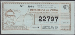 LOT-362 CUBA LOTTERY. 1964. SORTEO 284. SEPTIEMBRE 5. JOSE L. DUBROCQ SARDIÑAS. - Billetes De Lotería
