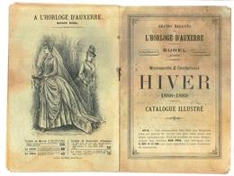 Catalogue Illustré BUNEL 1888 1889 - L'HORLOGE D'AUXERRE - Collection HIVER - France