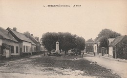 Rare Cpa Rubempré La Place Avec Monument Aux Morts - France