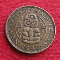 New Zealand 1/2 Half Penny 1942 KM# 12  Nova Zelandia Nuova Zelanda Nouvelle Zelande - Nouvelle-Zélande
