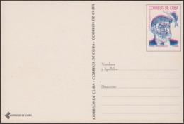 1999-EP-213 CUBA 1999 ERNEST HEMINGWAY UNCATALOGUED POSTAL STATIONERY ERROR. - Cuba