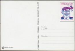 1999-EP-214 CUBA 1999 ERNEST HEMINGWAY UNCATALOGUED POSTAL STATIONERY ERROR. - Cuba