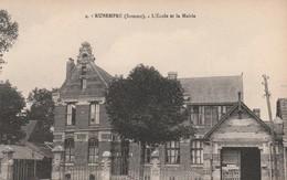 Rare Cpa Rubempré L'école Et La Mairie - France