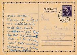 BuM (IMG1321) - Böhmen Und Mähren (1945) ... - Upice (nationalized Postmark!!! - 15.V.1945) (postcard); Tariff: 0,60 K - Böhmen Und Mähren