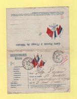 Carte FM Drapeaux Avec Carte Reponse Pour Le Militaire - Chamborigaud Gard - 16-2-1915 - Zouave - Guerre De 1914-18