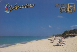 2014-EP-21 CUBA 2014 CANADA FORWARDED TURISTIC POSTAL STATIONERY. VARADERO. USED. - Cuba