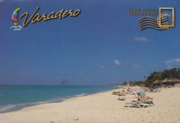 2014-EP-22 CUBA 2014 BRAZIL FORWARDED TURISTIC POSTAL STATIONERY. VARADERO. USED. - Cuba