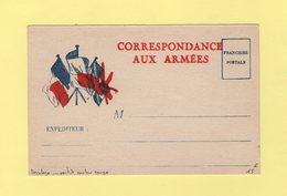 Carte FM Drapeaux Neuve - Variete Rouge Tres Decale - Guerre De 1914-18