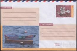 2018-EP-42 CUBA 2018 UNUSED NACIONAL POSTAL STATIONERY. HABANA MALECON SHIP, BOTE, CARAVELA. - Cuba
