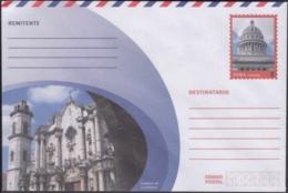 2018-EP-59 CUBA 2018 UNUSED NACIONAL POSTAL STATIONERY. CATHEDRAL CHURCH, IGLESIA CATEDRAL, CAPITOLIO. - Cuba