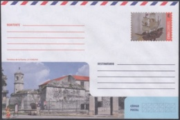 2018-EP-61 CUBA 2018 UNUSED INTERNACIONAL POSTAL STATIONERY. ROYAL FORCE CASTLE, CASTILLO REAL FUERZA. - Cuba