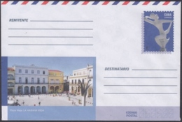2018-EP-62 CUBA 2018 UNUSED INTERNACIONAL POSTAL STATIONERY. OLD PLACE, PLAZA VIEJA HABANA. - Cuba