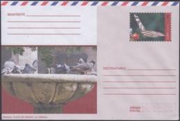 2018-EP-64 CUBA 2018 UNUSED INTERNACIONAL POSTAL STATIONERY. PALOMAS PLAZA DE ARMAS, BUTTERFLIES, MARIPOSAS - Cuba