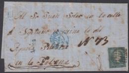 PREFI-689 SPAIN ESPAÑA COVER TO CUBA. 1857. MEDIO REAL DEL CAPÌTAN. 1r PLIEGE DE IMPRESION. - Cuba