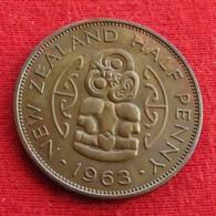 New Zealand 1/2 Half Penny 1963 KM# 23.2  Nova Zelandia Nuova Zelanda Nouvelle Zelande - Nouvelle-Zélande