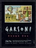 THEME TABLEAU étiquette De Vin ROUGE SEC MONTGOLFIERE - Mongolfiere