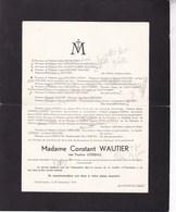 GOZEE Région De THUILLIES TAVIERS Pauline LOSSEAU 86 Ans 1939 épouse Constant WAUTIER - Overlijden