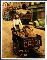 THEME LOCOMOTION étiquette De Vin SYRAH / VÉLO TRIPORTEUR - Ciclismo