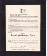 VAL-DE-POIX Paul ZOUDE époux ZURSTRASSEN Ingénieur 1869-1932 Famille HOUTART - Overlijden