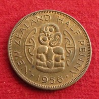 New Zealand 1/2 Half Penny 1956 KM# 23.2  Nova Zelandia Nuova Zelanda Nouvelle Zelande - New Zealand