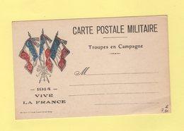 Carte FM Drapeaux Neuve - 1914 Vive La France - Guerre De 1914-18