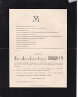 MONT-ANHEE Hubert DRUGMAN 1854-1907 Familles WITTOUCK VAN HOEGAERDEN CATOIR GENDEBIEN GIHOUL - Overlijden