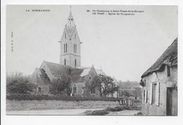 La Normandie - De Cherbourg A Saint-Vaast-de-la-Hougue 26 Le Vast - Eglise De Tocqueville - Dos Simple - Saint Pierre Eglise