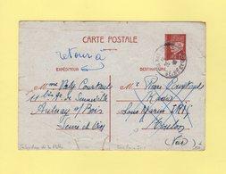 Sabordage De La Flotte à Toulon - Entier Petain 25 Novembre 1942 Destination Sous Marin Iris - Retour à L'envoyeur RARE - Marcophilie (Lettres)