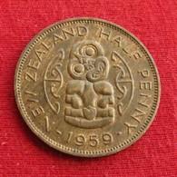 New Zealand 1/2 Half Penny 1959 KM# 23.2  Nova Zelandia Nuova Zelanda Nouvelle Zelande - New Zealand
