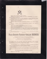OREYE FAIMES CELLES Louis-Charles D'HARVENG 1883-1908 Famille JAMOULLE DELVIGNE Docteur Médecin - Overlijden