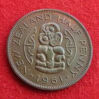 New Zealand 1/2 Half Penny 1961 KM# 23.2  Nova Zelandia Nuova Zelanda Nouvelle Zelande - New Zealand