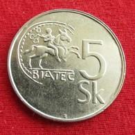 Slovakia 5 Koruna 1995 KM# 14  Eslovaquia Slovaquie Slowakije - Slovaquie