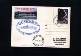 Pitcairn Islands 2006 MS Columbus Interesting Ship Postcard - Timbres