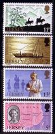 Jersey 1976 Mi 153 - 156, Doctor, Missionary In China, Travels, Discoveries, Mountains, Map. MHN** W926 - Jersey