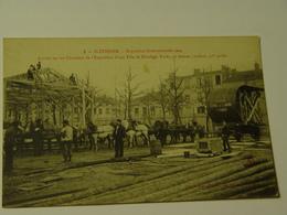 LOIRE-SAINT ETIENNE-3-EXPOSITION INTERNATIONALE 1904-ARRIVERE SUR LES CHANTIERS DE L'EXPOSITION D'UNE TOLE DE...-ANIMEE - Saint Etienne