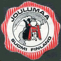 Finland CHRISTMAS Santa Xmas Letter Seal Siegelmarke Vignette Finnland Finlande Suomi Joulumaa Joulupukki - Noël