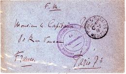 1918 FM De CAVALERIE DU DETACHEMENT FRANCAIS DE PALESTINE -Postes Navales - Marcofilia (sobres)