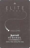 Marriott Hotels Elite RFID Room Key Card With Plicards And Short Text - Hotel Keycards