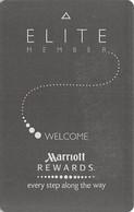 Marriott Hotels Elite RFID Room Key Card With H Above Mag Stripe - Cartes D'hotel
