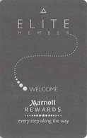 Marriott Hotels Elite RFID Room Key Card With L Above Mag Stripe - Hotel Keycards