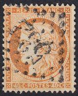 FRANCE Francia Frankreich - 1870 - Yvert 38, Usato, Cérés, 40 Cent., Arancio. - 1849-1850 Cérès
