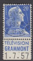 FRANCE Francia Frankreich - 1955 - Marianna Di Muller - Lotto Due Francobolli Usati - Yvert 1011B (tipo II),  Con Banda - France