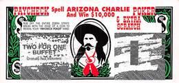 Arizona Charlie Casinos - Las Vegas, NV USA - Paycheck Poker Scratch & Win Contest Ticket - Publicités