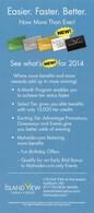 Island View Casino - Gulfport, MS - Paper 2014 Slot Card Benefits Card - 9x4 Inches - Cartes De Casino