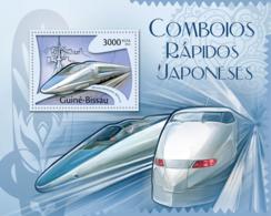 Guinea Bissau 2012 Japanese Speed Trains - Guinea-Bissau