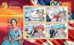 Guinea Bissau 2012 Queen Elizabeth -Diamond Jubilee, ( Pope Benedict XVI). - Guinea-Bissau