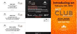 Gateway Casinos Canada - Introductory Brochure For New My Club Rewards Cards Feb 5th, 2018 - Cartes De Casino