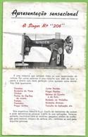 Portugal - Máquinas De Costura Singer - Rendas - Bordados - Lace - Embroidery - Sewing Machines - United States America - Publicités