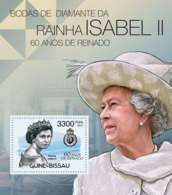 Guinea Bissau 2012 Diamond Jubilee Of Queen Elizabeth II - Guinea-Bissau