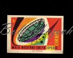 C134 CZECHOSLOVAKIA 1961 Orbis Publishing A Small Modern Encyclopedia - Radio Telescope - Zündholzschachteletiketten